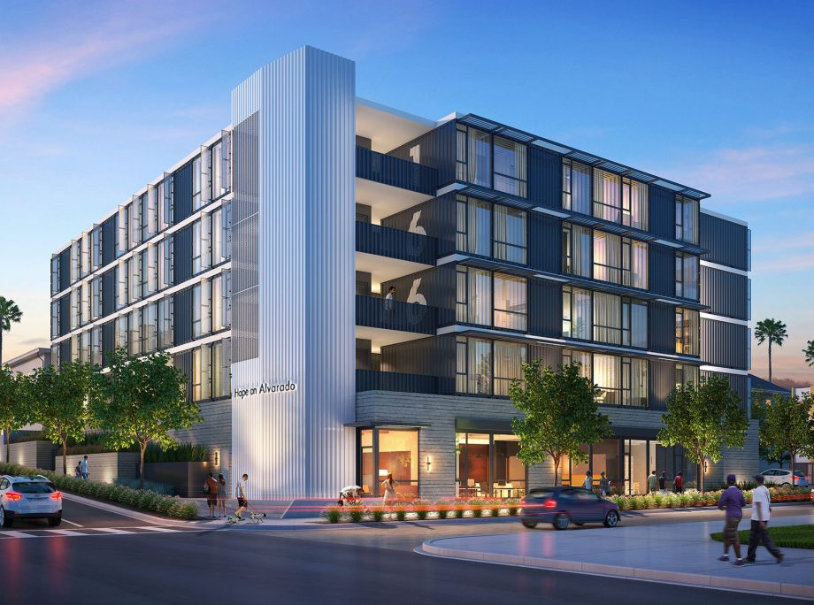 Hope on Alvarado – KTGY Designs LA Container-Based Homeless Housing – Multi-Housing News
