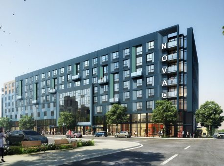 8th & Western – Art Deco garage incorporated into mixed-use complex in L.A.'s Koreatown